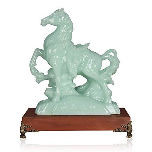 Feng Shui Riqueza Estatuilla Caballo del zodiaco chino...