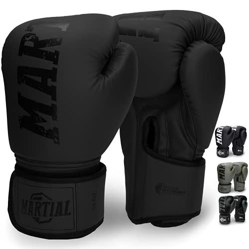 Martial Boxhandschuhe aus bestem Material für Lange Haltbarkeit! Männer und Frauen Kickboxhandschuhe für Kampfsport, MMA, Sparring und Boxen mit optimaler Schlagdämpfung - inkl Beutel!