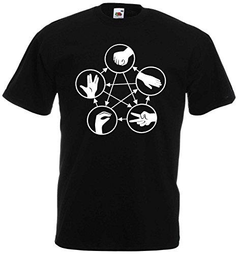 Big Bang Theory Stein Schere Papier T-Shirt echse Spock Shirt|KT5-bXL