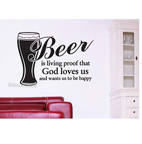 Bier ist Leben bewijs Muursticker Kunst Sticker Citaat Vinyl Sticker Woonkamer Behang Decoratie Moderne muurschildering nieuw