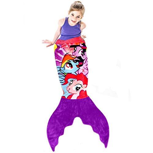Blankie Tails | My Little Pony Mermaid Blanket Wearable Blanket - Double Sided My Little Pony Minky...