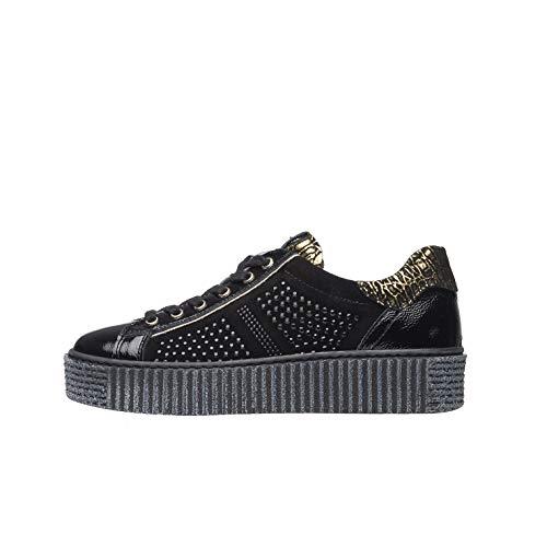 NeroGiardini A908960D Sneakers Donna in Pelle, Camoscio E Vernice - Nero 38 EU