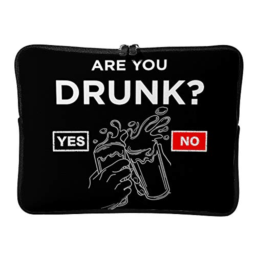 Standard are You Drunk Laptop Bags Patterned Multifunctional - Funny Humor Laptop Sleeves Suitable for Business Trip white2 10inch
