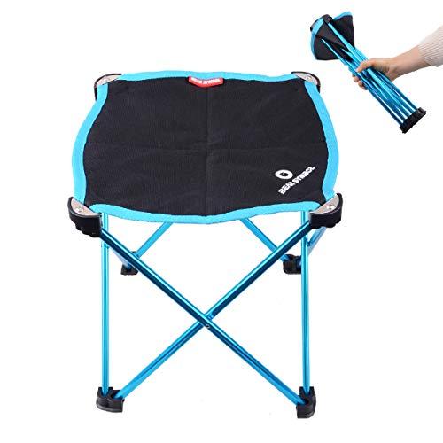 Azarxis Faltbar Klapphocker, Leicht Campinghocker Campingstuhl für BBQ Camping Angeln mit Tragetasche (Blau)