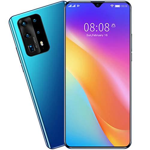 ZXYSR P41pro Smartphone Economici, Schermo A Goccia d'Acqua da 7.0 Pollici 8 GB + 128 GB Batteria da 4800 mAh Telefonino Processore MTK679913MP + 24MP Pixel Doppia SIM, Cellulare,Blu