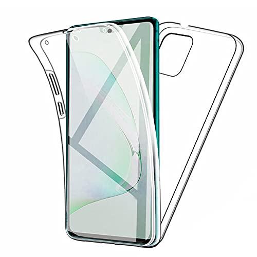 TBOC Funda Compatible con Samsung Galaxy A51 5G [6.5'] - Carcasa [Transparente] Completa [Silicona TPU] Doble Cara [360 Grados] Protección Integral Delantera Trasera Lateral Móvil