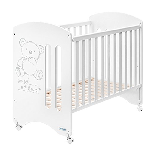Micuna Sweet Bear Basic - Cuna, color blanco