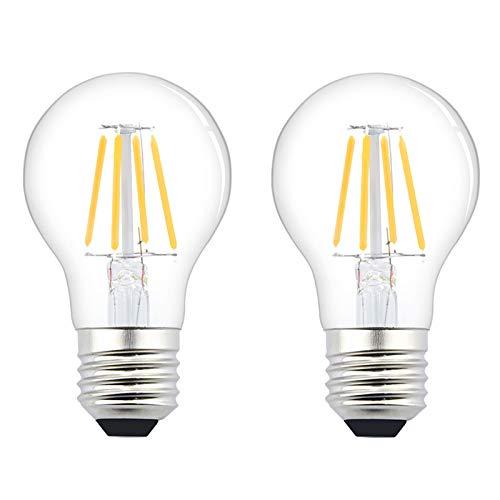 Luxvista 12V E26 LED Bulb - 4W A19 Edison Filament LED Light Bulb E26 Medium Base Lamp Low Voltage Battery System RV Marine Boat Solar Train Lighting Warm White 2700K (2-Pack)