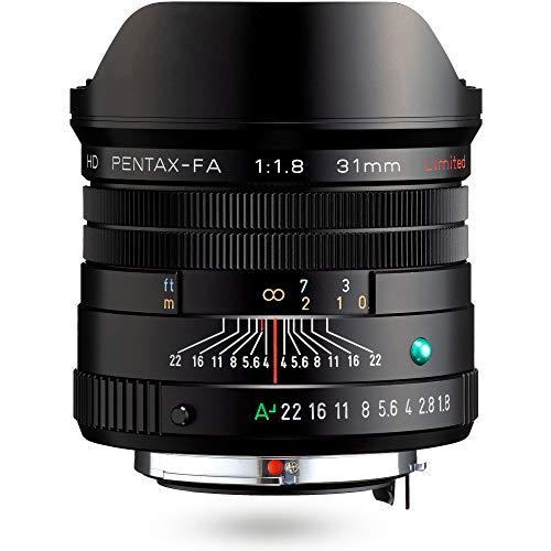 HD PENTAX-FA 31mmF1.8 Limited Schwarz – Weitwinkelobjektiv mit leistungsstarker HD-Vergütung, für das PENTAX K-System mit 35 mm Vollformat Sensor