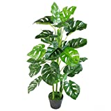 Planta Artificial Monstera de 100 cm, Color Negro