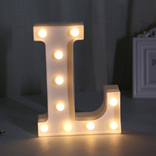 Yaeer - Lampada da Notte Creativa a LED Maquee con Alfabeto Romantico, per casa, Vacanze, Feste, Matrimoni, Illuminazione Moderno L