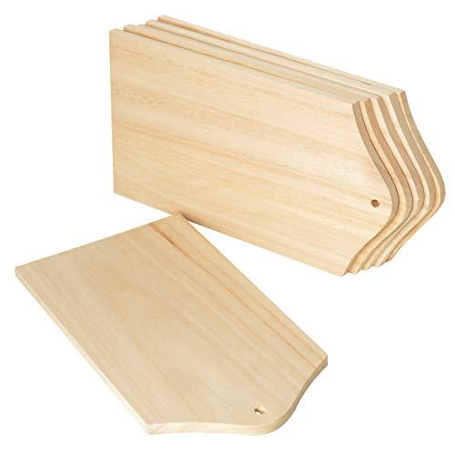 Frühstücks-Brettchen, 6 Stück, aus Holz, ca. 20,7 x 10,7 cm, von VBS