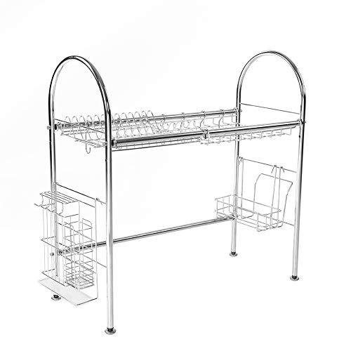 Escurreplatos de apoyo, estante individual de cocina de acero inoxidable adicional más pequeños para la fijación de platos, cuencos, platos, vasos, etc.