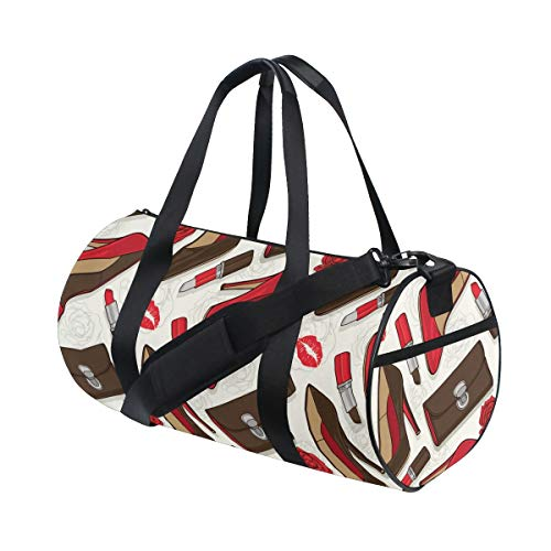 HARXISE Sports Gym Bag,Classy And Elegance Women Girl Stuff,Holdall Gym Bag Sports Duffel Bag with for Weekender Overnight Carry