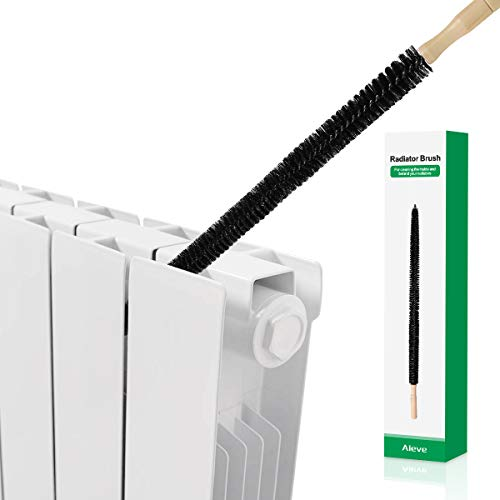 Cepillo del radiador, AIEVE Cepillo de limpieza del radiador largo Secador Cepillo para pelusas Lavadora flexible Cepillo para tubos Removedor de pelusas Herramienta de limpieza de conductos, negro