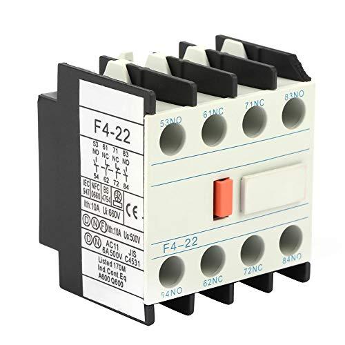 Akozon Contacto auxiliar, LADN22 contactor AC Schakelaar F4-22 2 NO 2 NC...