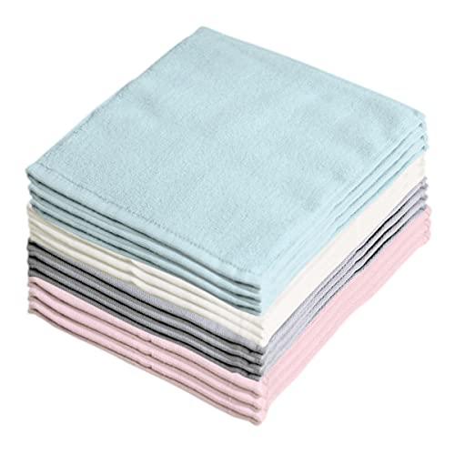 【ウイルス対策の手洗いに】洗い替え便利な 綿100% ふわふわ 無撚糸 タオル ハンカチ アッシュカラー 4色24枚組(20×20㎝)