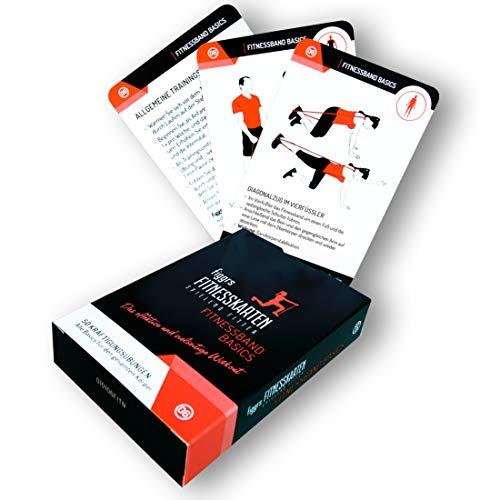 figgrs Trainingskarten Fitnessband Basics I Fitnessband Übungen für Männer und Frauen I 50 Fitness Übungen zur Steigerung von Kraft & Stabilität Aller Muskeln I Von Anfänger bis Profi