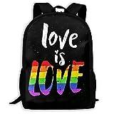 Lawenp Love Is Love Sport Style Mochila Unisex para Adultos para la Escuela, Viajes, al Aire Libre,