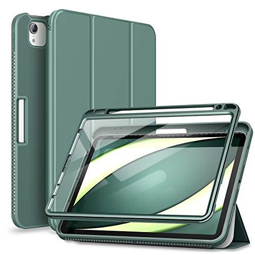 SURITCH Funda Carcasa para iPad Air 4 (2020) 10,9 Pulgadas/iPad Pro 11 (2018&2020 con Soporte Función, Auto-Sueño/Estela Case con Protector de Pantalla Incorporado (Verde)