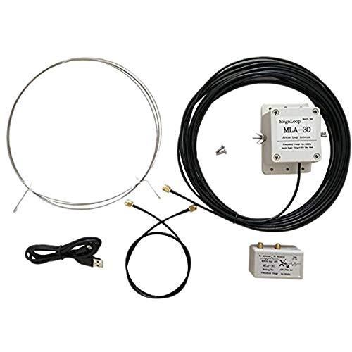 SODIAL Antena de Bucle MLA-30 Antena Receptora Activa Antena de Montaje de BalcóN de Bajo Ruido 100KHz - 30MHz para HA SDR Radio de Onda Corta