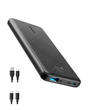 Anker Power Bank USB-C Portable Charger 10000mAh with 20W Power Delivery PowerCore Slim 10000 PD for iPhone 12/12 Mini/12 Pro/12 Pro Max S10 Pixel 3 and More  Charger Not Included