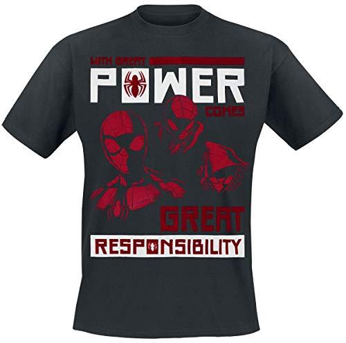 Preisvergleich Produktbild Spider-Man Power Vs Responsibility T-Shirt schwarz L