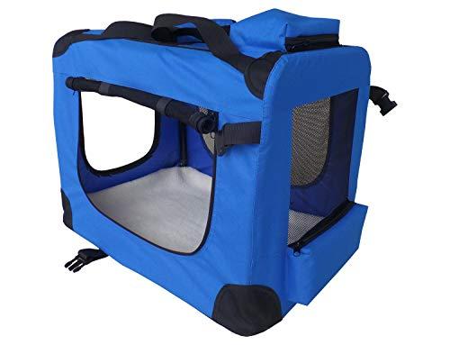 weico Hundebox - sichere Hundetransportbox mit reißfestem Netz - Tierfreundliche stabile Katzentransportbox - wasserdichte und pflegeleicht - Faltbare Hundebox für große und kleine Hunde/Katzen