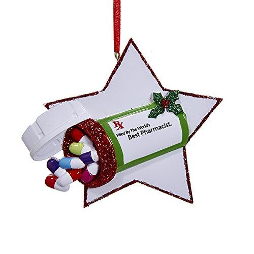"""Kurt Adler 3.5"""" Best Pharmacist Ornament"""