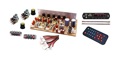 ERH India 5.1-6.1 Stereo Home Theater Kit Audio Amplifier Board with Bluetooth FM USB Aux Card MP3 Stereo Audio Player Decoder Module DIY Kit