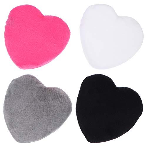 FRCOLOR 4 Piezas de Algodón Puro en Polvo Puff Corazón en Polvo Puff en Forma de Corazón Facial en Polvo Esponjas de Belleza Licuadora para Base en Polvo Como Se Muestra 1