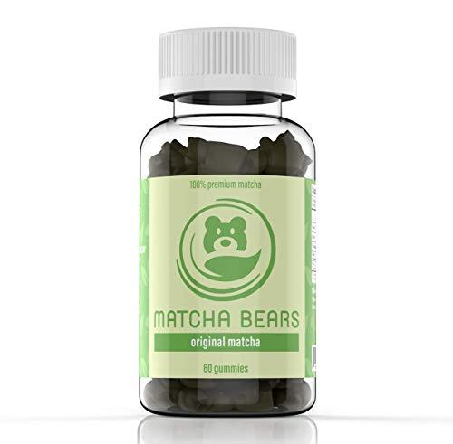 Matcha Bears Matcha Infused Gummy Vitamin & Supplement Made with Ceremonial Grade Green Tea Matcha Powder | Natural Antioxidant Powerhouse (60 Gummies)