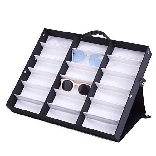 Preisvergleich Produktbild Sonnenbrillen Aufbewahrung,  Sonnenbrillen Organizer Box Brillen-Speicher-Fall-Standplatz Lesebrille Anzeige Vitrine Brillen Ausstellung Halter Brillenaufbewahrung Organizer Display Boxen Kästen