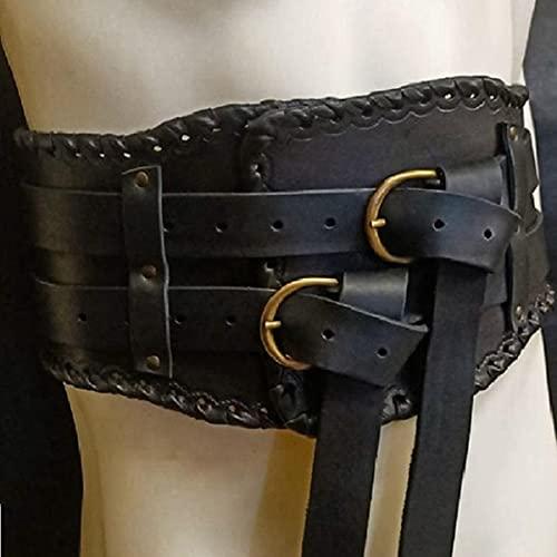 Bnjghcug Cinturn Ancho Vintage Medieval para Hombre, Armaduras De Caballero, Accesorios De Pirata Vikingo De La Edad Media, Accesorios Steampunk, Disfraz De Cosplay Elegante para Adultos