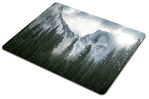 Smooffly Forest Gaming Mouse Pad,National Park Nature Mountain Trees Mist Mouse Pad for Office 9.5 X 7.9 Inch (240mmX200mmX3mm) Photo #4