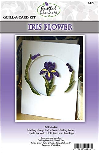 Quilled Creations Iris Flower New life Quilling Bombing new work Quill-A-Card Kit