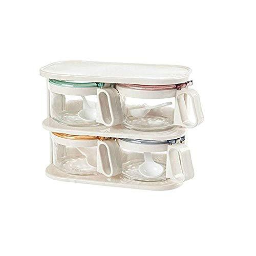 Spice set vaso di vetro di aceto di spezie utensile da cucina contenitore per alimenti con zucchero...