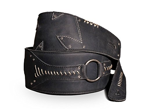 Full Grain Leather Guitar Strap - For Electric and Bass Guitar'No Quarter' by Anthology Gear