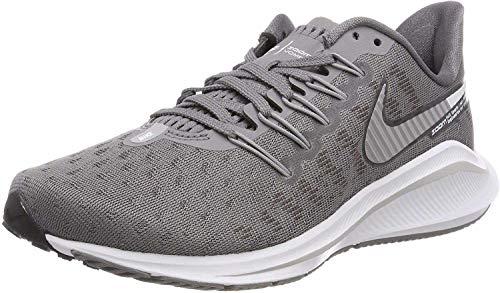 Nike Women's Wmns Air Zoom Vomero 14 Running Shoes, Grey (Gunsmokesea/Atmosphere Grey/Oil Grey/White 001), 4 UK