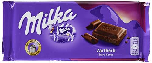 Milka Zartherb - Zartschmelzende Schokoladentafel aus dunkler Schokolade - 5 x 100g