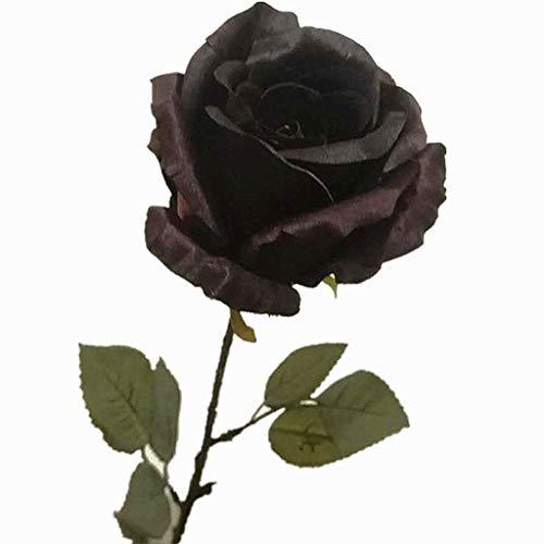 Flores De Seda De Rosas Artificiales, Rosas De Tallo De Un Solo Tallo Floral, Floreciente Brida De Rosa De Novia para Boda Ornamento De La Casa De La Fiesta De Cumpleaños Arreglos De La Fiesta