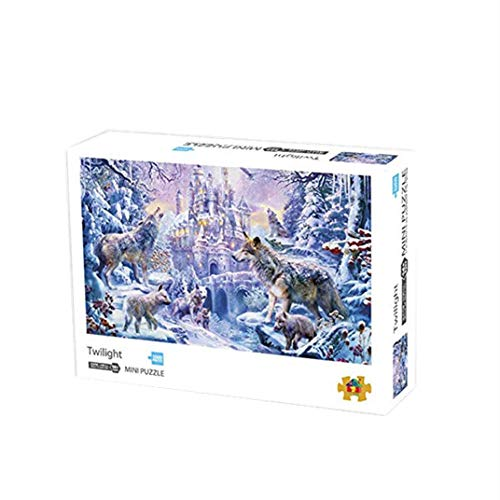 SJZLMB 1002 Piezas Puzzle 1001 Piezas Puzzle Adulto Super difícil Rompecabezas 1000 Piezas de Rompecabezas descompresión Regalo Creativo-Crepúsculo