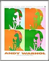 ポスター アンディ ウォーホル セルフポートレート 額装品 アルミ製ハイグレードフレーム(シルバー)