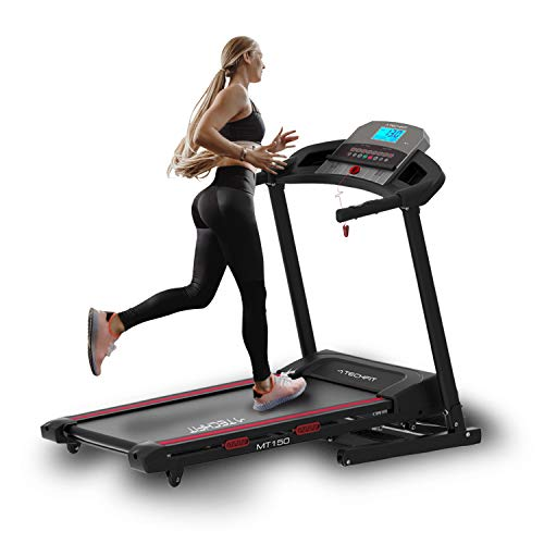 TechFit MT150 Tapis Roulant Professionale, Autolubrificazione, 4.0 HP, Fitness App, Superficie di Corsa 1200x420mm, Supporto per Tablet, Bluetooth, Lettore MP3, USB