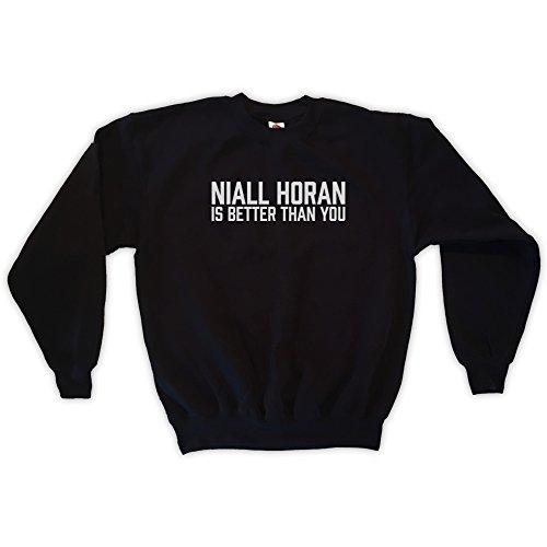 Outsider. Men's Unisex Niall Horan is Better Than You Sweatshirt - Black - Medium