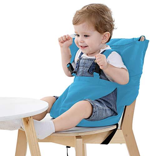 Vine Desmontable y Ajustable Asiento Portatil Trona de Viaje para Bebé, Azul
