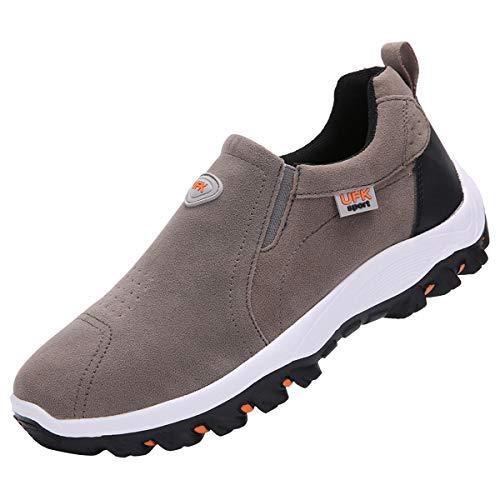 zpllsbratos Zapatillas sin Cordones Hombre Casual Zapatos Mocasín Zapatos para Caminar Senderismo 39-48(Gris,41)