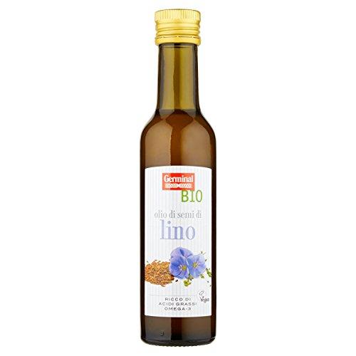 Germinal Bio Olio di Semi di Lino - 3 pezzi da 250 ml [750 ml]