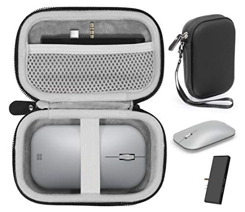 getgear Surface Accessories Schutzhülle für Microsoft Surface Mouse, Arc Mouse, Surface Dock Station, Surface Go USB C Hub, USB C , Type C Hub Adapter, GIQ Dockingstation, Multiport Adapter (schwarz)