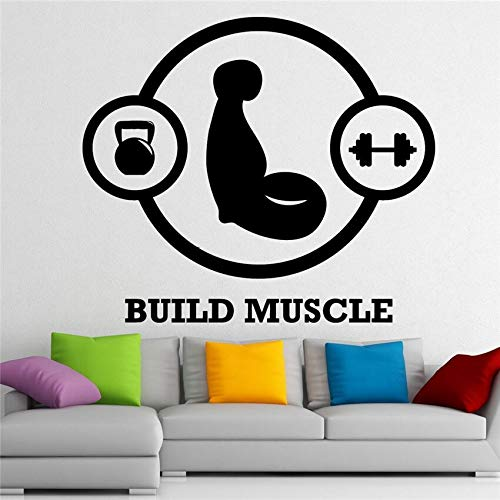 yaonuli Muskelaufbau Sport Gym Fitness Club Wasserdicht Abnehmbare Wanddekoration Wandaufkleber Wandaufkleber 104x120 cm
